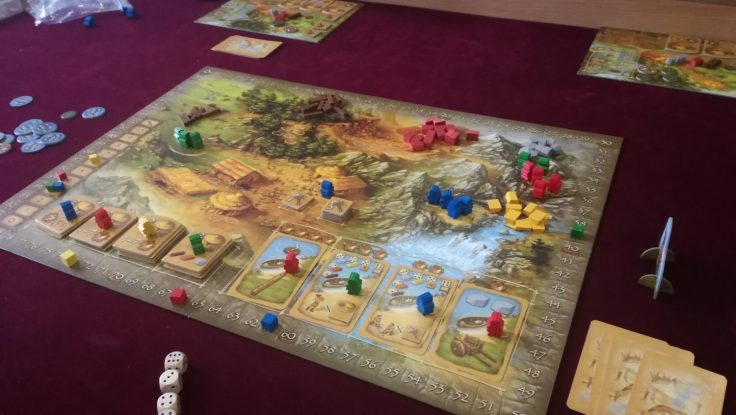Stone Age Late Game Board