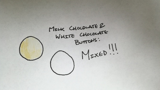 Milk Chocolate and White Chocolate Buttons Mixed