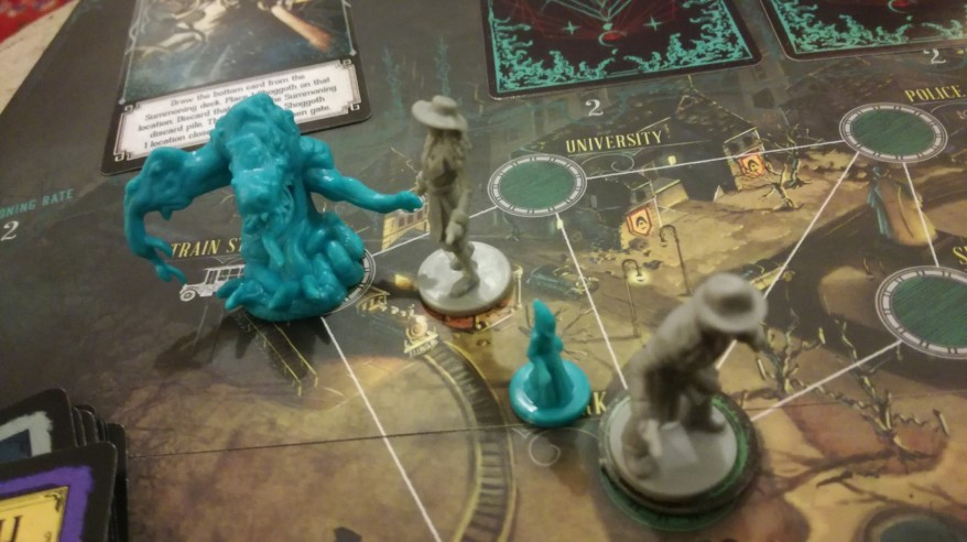 Trouble in Arkham in Pandemic: Reign of Cthulhu