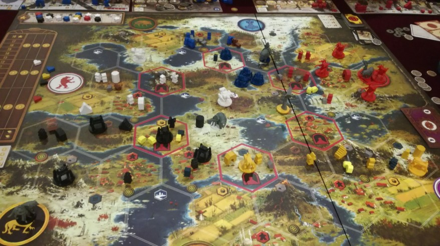 Games like Risk: 5 Players Big Board Scythe