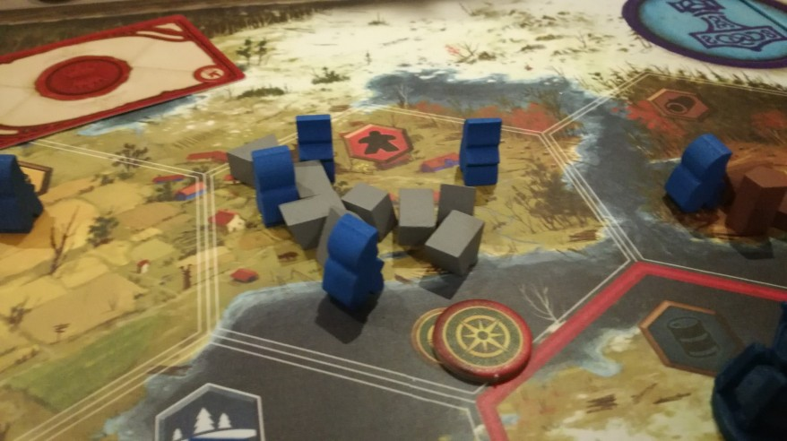 Scythe Review - The Nordic Kingdoms gathering resources