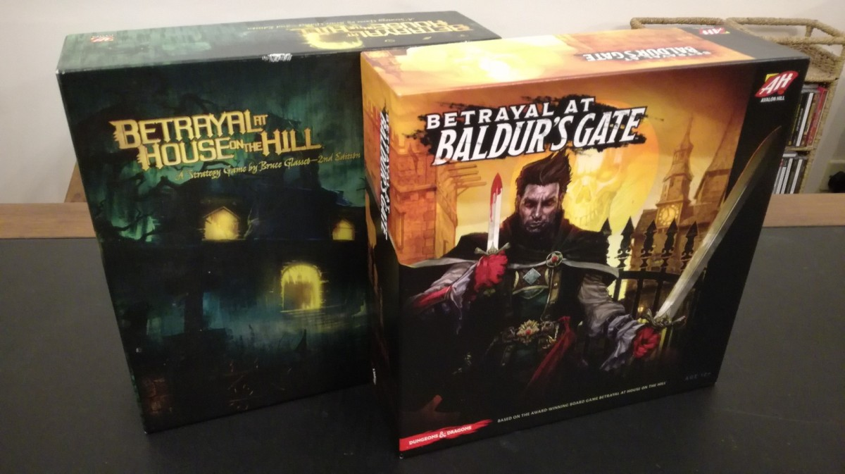 What is the difference between Betrayal at House on the Hill and Betrayal at Baldur's Gate?