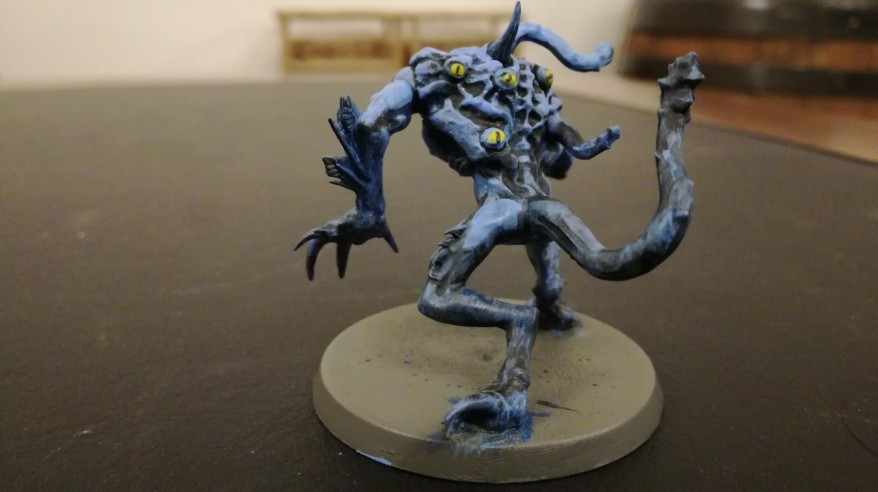 Chaos Spawn of Tzeentch undercoat back