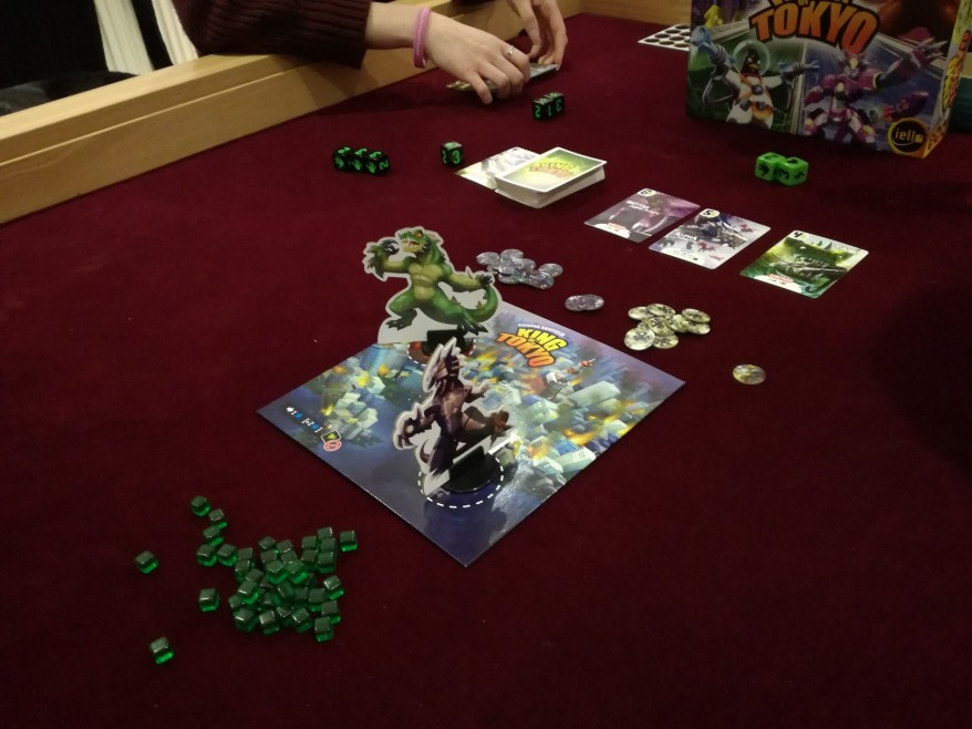 What is King of Tokyo? Two monsters in Tokyo - the full board.