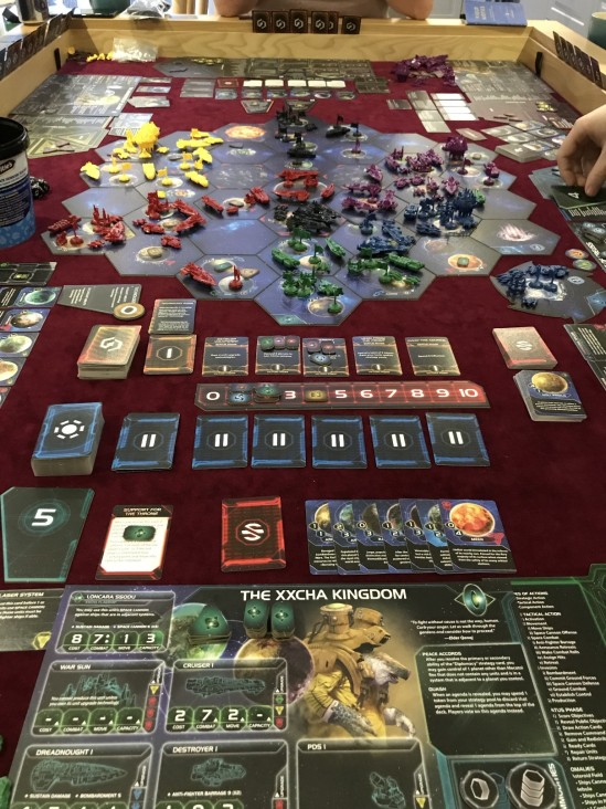 Twilight Imperium board mid-game.