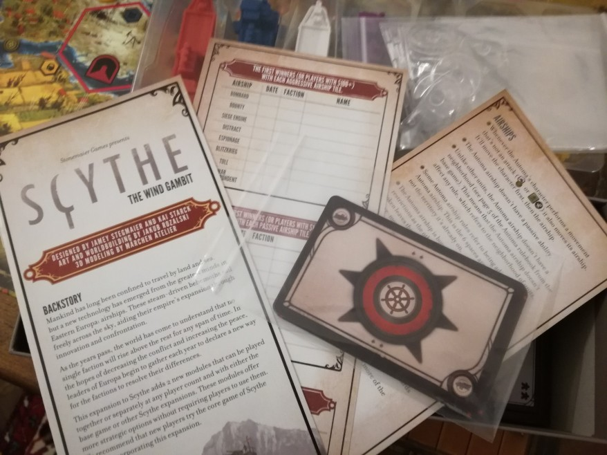 New rules and cards, as well as how to play the Scythe: The Wind Gambit in the solo variant of the game.