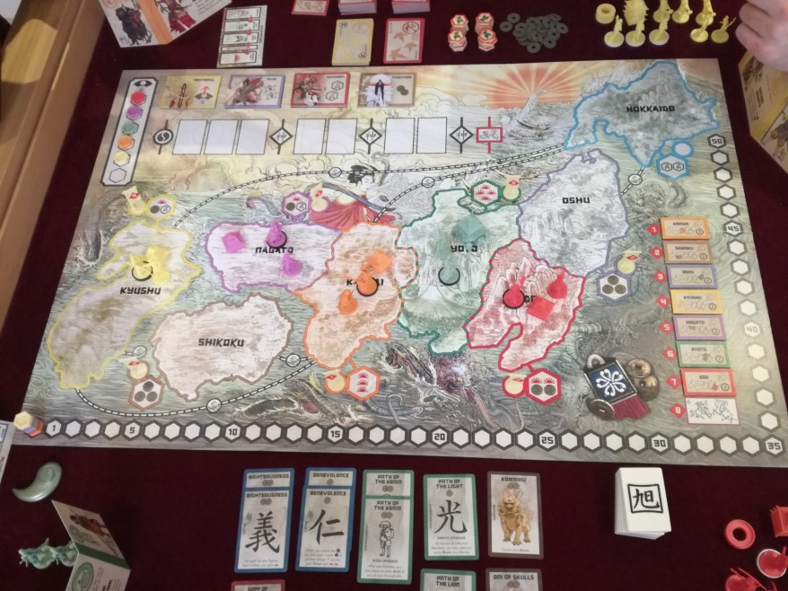 Rising Sun Review: Five Player Set Up