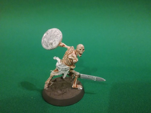 Skeleton army paints - Step 2: Flesh Wash and Skeleton Bone