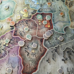 Battle for Rokugan Review: Mid game, when it is all going down.