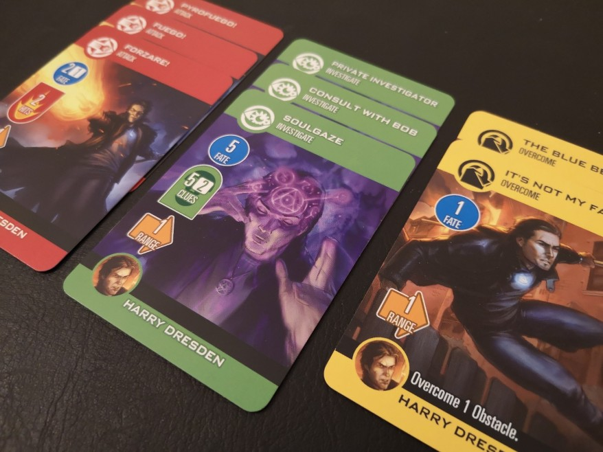 Examples of Harry Dresden cards