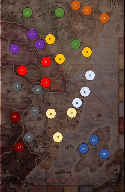 Detailed Map of Rokugan