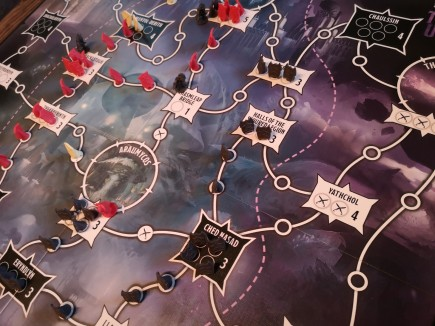 The main part of a two player game of Tyrants of the Underdark
