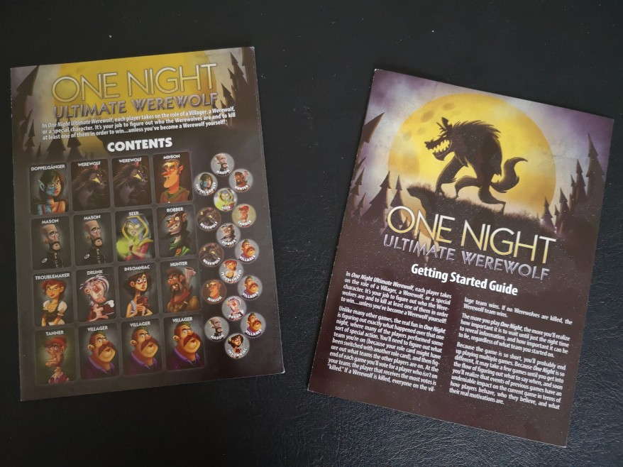 Unboxing One Night Ultimate Werewolf – Start Your Meeples