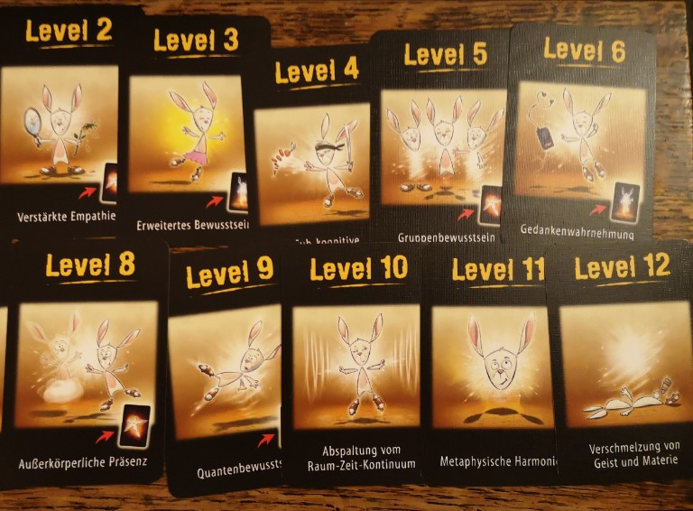 Level cards (in German)