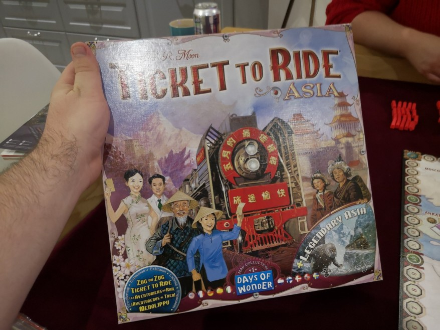 Ticket to Ride Asia box.