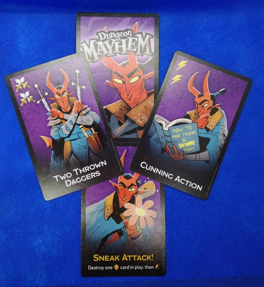 The Rogue card examples.