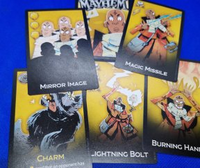 The Mage card examples.