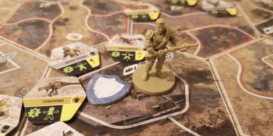 Playing the Fallout Board Game solo - trouble brewing with lots of enemies.