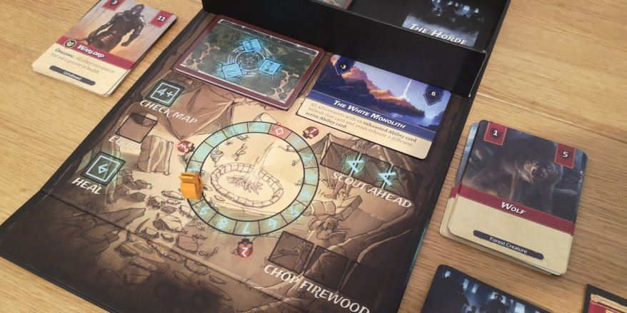 Set a Watch Review - The White Mountains Location on the Board - Unhallowed to the left, Graveyard to the Right