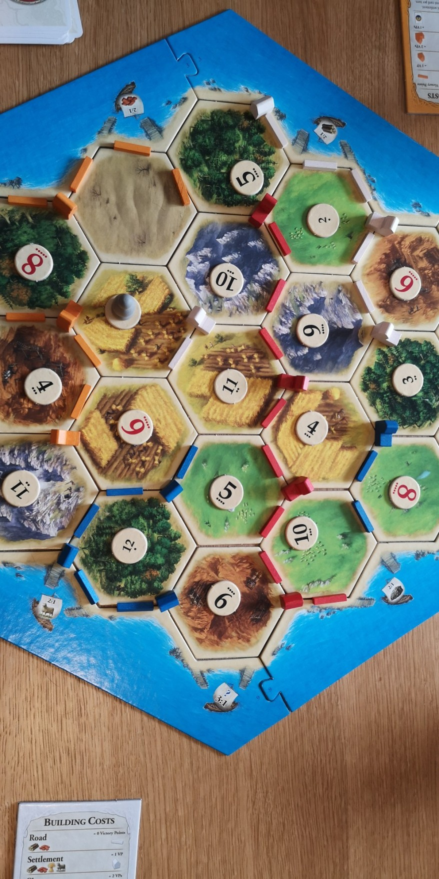 The Catan Board up close
