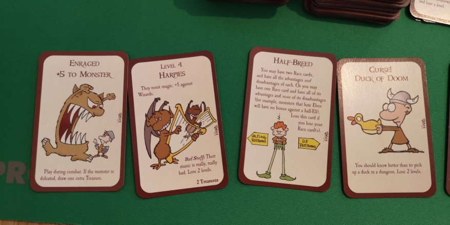 "Munchkin Review - Examples of cards ""Kicking Down The Door"""