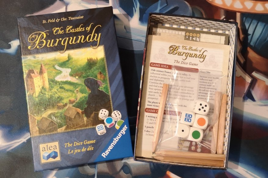 Best Roll and Write Games - Castles of Burgundy: The Dice Game