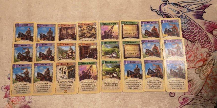 Catan development cards