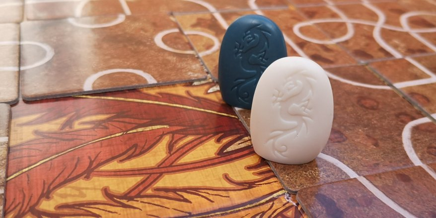 Tsuro Board Game Review - Pieces Sharing a Tile